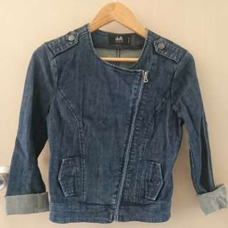 DOTTI ASYMMETRIC DENIM JACKET