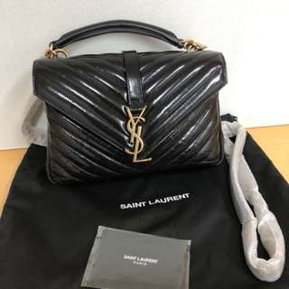100%real 100%new YSL college monogram shoulder bag