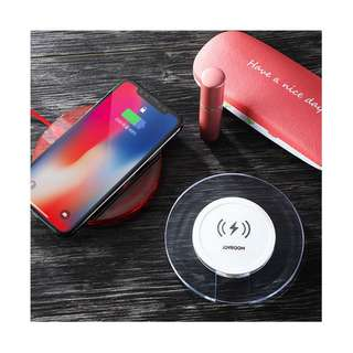 JOYROOM Wireless Charger QI Standard for S8,Note8,Iphone X/8 White