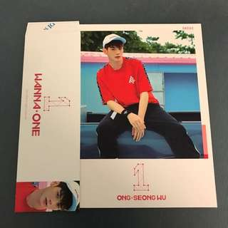 Wanna One Ong Seongwoo To Be One Pink Ver Sleeve & Cover Card