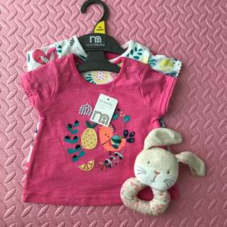 Mothercare TShirts - Set of 2 (3-6M)
