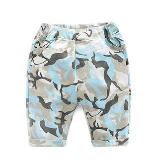 Boy's camouflage shorts