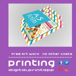 128gsm A5 Flyers