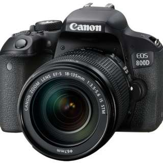 Canon EOS 800D DSLR Camera with 18-135mm Lens
