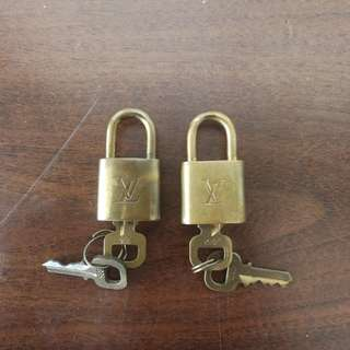 Authentic louis vuitton LV padlock