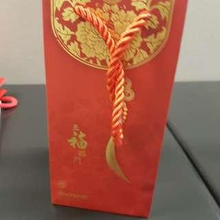 CNY orange paper bag