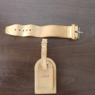 Authentic louis vuitton luggage tag with azh stamping