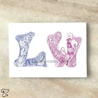 Personalized Colouring Card [DUO]