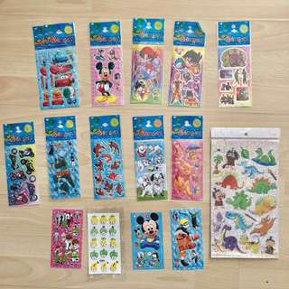 Assorted stickers - Bundle Sale of 16pcs