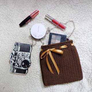 Knitted Sling Bag (Brown 01)