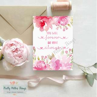 Watercolor Floral Valentine's Day Card 2