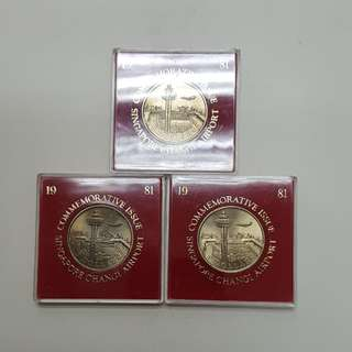 1981 Singapore Changi Airport Commemorative Coin
