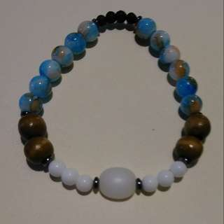 Blue Essential Oil Bracelet