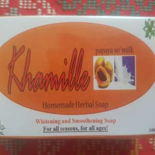 Khamille Homemade Herbal Soap with Papaya Extract and Milk