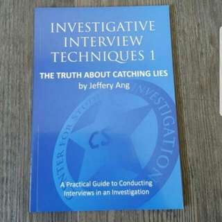 Investigative interview techniques 1 : the truth about catching lice