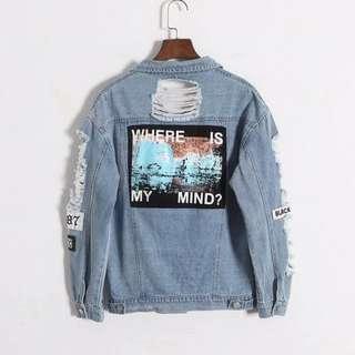 Denim Jacket 'Where Is My Mind'