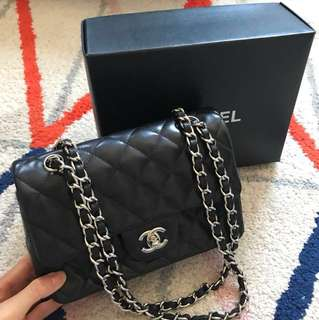 Lamb skin chain bag