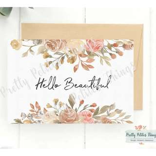 Customizable Watercolor Floral Card