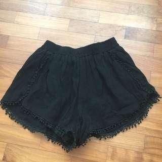 Black Pompom shorts