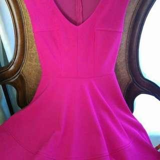 Guess fuchsia dress XS