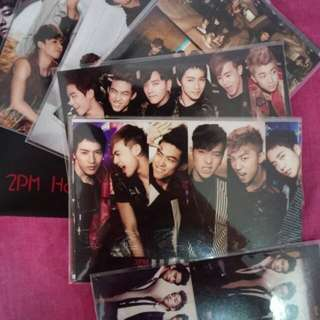 2pm photocard and poker card