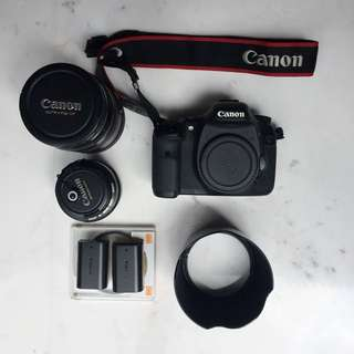 Canon DSLR 7D + EF 24-70mm f2.8L + EF 50mm f1.4