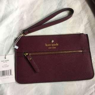 Kate spade wristlet leather