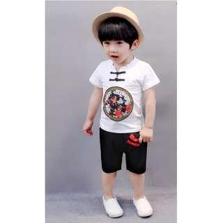 CNY Chinese New Year Short Sleeve Shirt + Pants