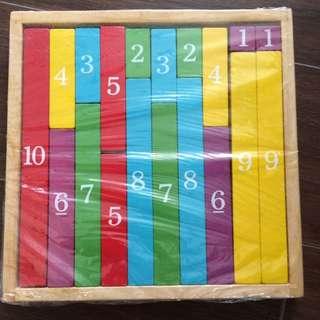 Montessori number blocks