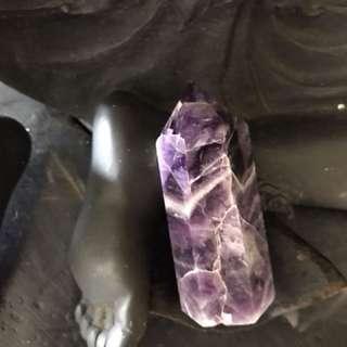Amethyst crystal obelisk wand point W87
