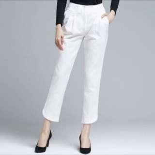 VACAE 台灣設計師品牌 白色老爺褲