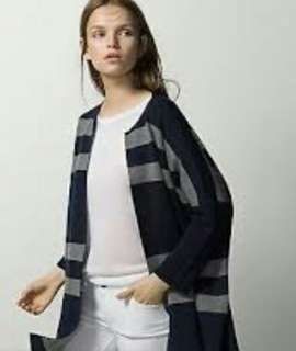 Two toned striped cape Massimo Dutti (FREE ONGKIR)