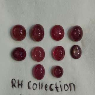 Natural Ruby HQ 10 pcs