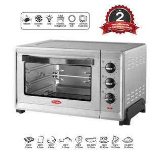 EuropAce 30L Double Glass Stainless Steel Convection and Rotisserie Oven EEO 5302S