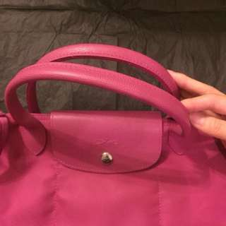 Pink pink Long Champ two ways bag