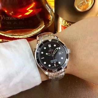 歐米茄--OMEGA 🎮O1 海馬系列007版本  腕錶 進口機械機芯 316L精鋼錶殼 礦物強化玻璃鏡面 原裝1:1鋼煉錶帶 原裝扣