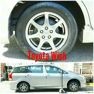 Tyre 195/65 R15 Membat on Toyota Wish 🐓 Super Offer 🙋