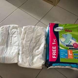 Tena Value Diapers Size L, 9 pcs