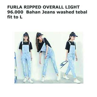 FURLA RIPPED OVERALL LIGHT