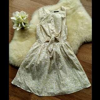 Dress Swelish Kuning Floral