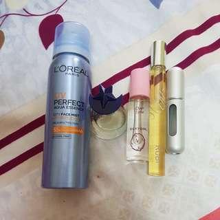 Perfumes/face mist