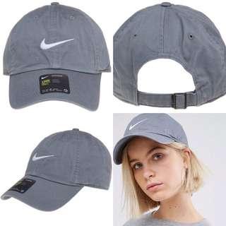"INSTOCKS Grey Nike Heritage ""Swoosh"" Baseball Cap"