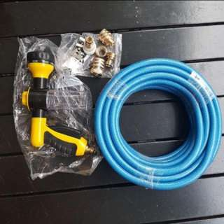 Car Washing water Hose With Spray Gun And Tap Adapters
