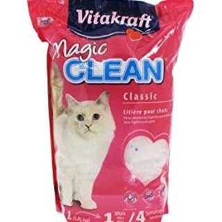 4 bags Vitakraft Magic Clean Crystals Litter 5L