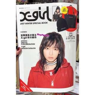 日本X-Girl手挽袋連冷帽