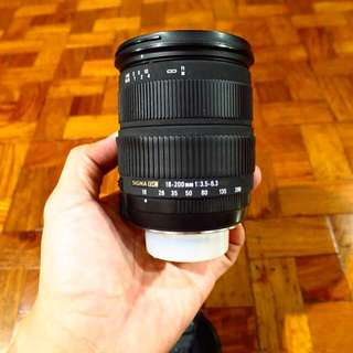 Sigma 18-200mm f/3.3-5.6 Nikon Mount zoom lens