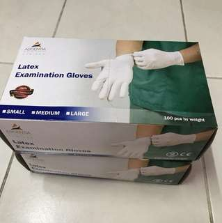 Latex Examination Gloves Size M brand new