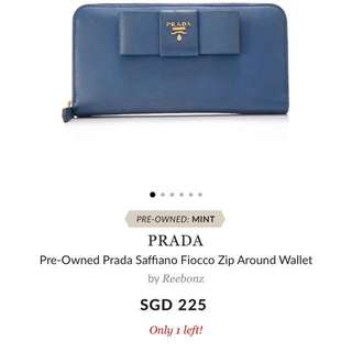 Prada Blue real leather Wallet