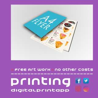128gsm A4 Flyers