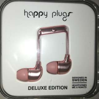 Happy Plugs Earbud Deluxe Edition (Pink Gold)